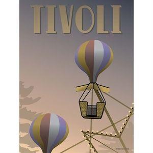 Image of   VISSEVASSE - TIVOLI plakat - Luftballonerne 30 x 40