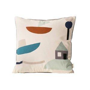 Ferm Living - Pude - Seaside Cushion - Råhvid