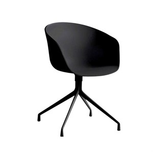 Image of   Hay - About a chair - AAC21 (black powder coated aluminium/leather silk)