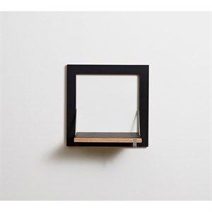 Image of   Ambivalenz - Fläpps Hylde - 40 x 40 cm - Sort