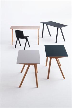 Image of   Hay bord - CPH90 - skrivebord (ben i sæbebehandlet eg og top i off white linoleum)