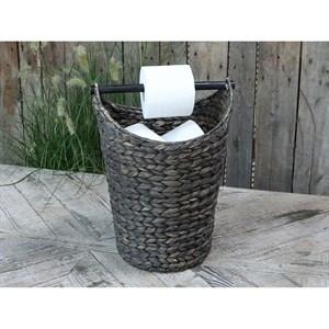Image of   Chic Antique - Kurv m. toiletpapirholder - Mørk