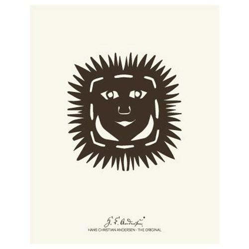 """Køb H. C. Andersen Original – """"Solhoved"""" Plakat i ramme – 40×50"""