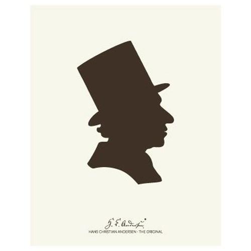 "Køb H. C. Andersen Original – ""Silhuet"" Plakat i ramme – 40×50"