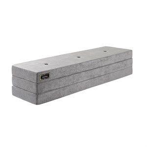 By KlipKlap madras - KK 3 fold Velour - Argent grå med grå knapper