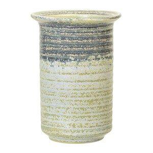 Image of   Bloomingville - Grøn vase - Stentøj - Ø10 x H14 cm