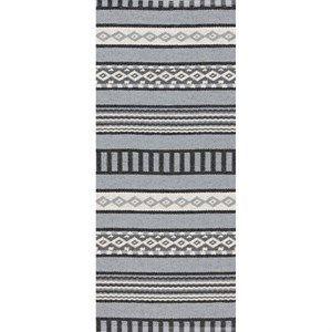 Image of   Horredsmattan tæppe - Linne i grå/hvid 70x140
