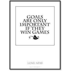 All Wall Art fanplakat - Lionel Messi Citat (Goals) 30x40