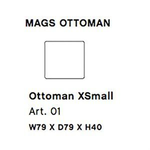 Image of   HAY - Mags modul sofa - Ottoman xsmall modul - Art. 01