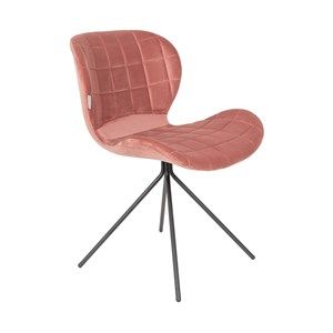 Image of   Zuiver - Stol OMG fløjl - Old pink