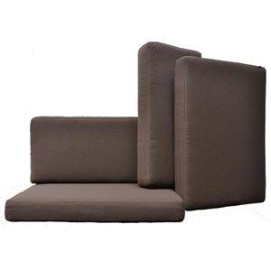 Image of   Cane-line, brun hyndesæt til Connect sofa 3 personers