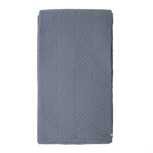 Billede af Bloomingville - Sengetæppe - Blå - Polyester