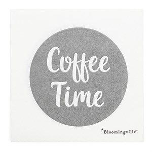 "Image of   Bloomingville - Serviet ""Coffee Time"" - Hvid (pakke af 20 stk)"