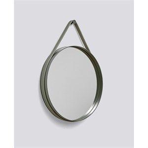"""Image of   HAY - """"Strap Mirror"""" Spejl D50cm - Army"""