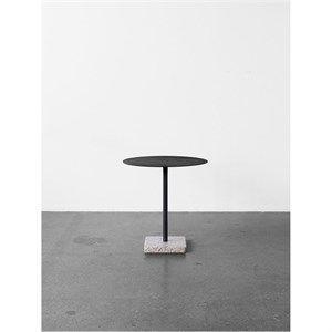 Image of   HAY bord - Terrazzo cafébord rund - Grå base/charcoal top