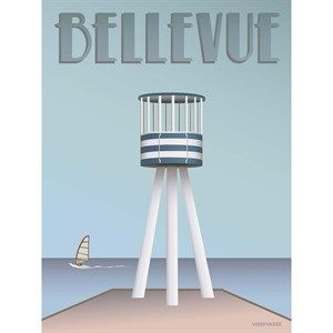 Image of   VISSEVASSE - Bellevue plakat 30 x 40