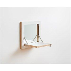 Image of   Ambivalenz - Fläpps Vanity Spejl - 40 x 40 cm - Hvid