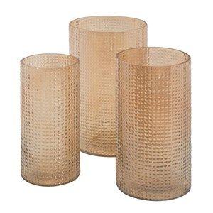 Image of   Au Maison - Vase - Manhattan - Honey (Sæt med 3 stk.)