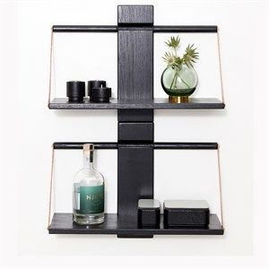 Image of   Andersen Furniture - Shelf Wood Wall - Sort - 60x25xH32 cm