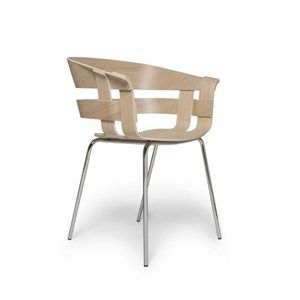 Image of   Design House Stockholm stol - Wick stol i eg sæde/krom ben