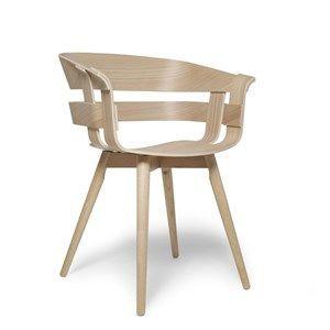 Image of   Design House Stockholm stol - Wick stol i eg sæde/eg ben