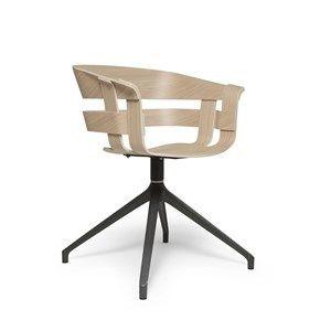 Image of   Design House Stockholm stol - Wick stol i ask sæde/grå ben