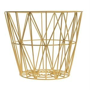 Ferm Living - Wire Basket medium - gul - Gratis fragt