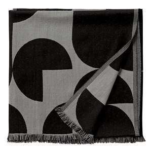 Image of   AYTM - Forma Plaid Throw - Light grey/black