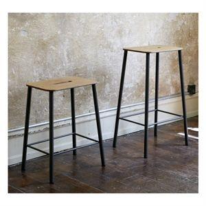 Image of   Frama - Adam skammel/barstol (højde 50 cm) - sort