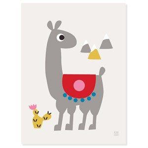 Image of   KAI Copenhagen - Plakat - Alpaca - 30x40 cm.