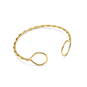 Image of   Louise Kragh - Armbånd - Twist - guld