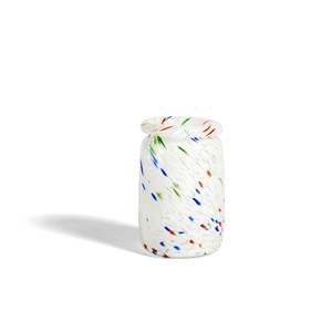 Image of   HAY - Splash Vase - Roll Neck, M - White dot