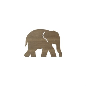 Image of   Ferm Living - Elefant Lampe - Røget eg