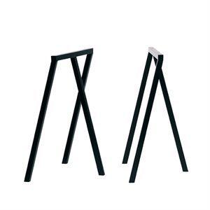 Image of   Hay - bordbukke - 2 stk. Loop Stand Frame - sort - 72 cm høj