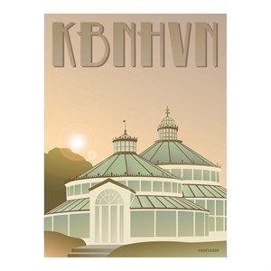 Image of   VISSEVASSE - Botanisk Have Plakat - 30x40 cm