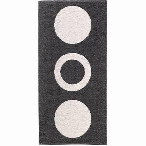 Image of   Horredsmattan dørmåtte Circel 70 x 50 cm - sort/hvid