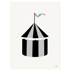 Image of   KAI Copenhagen - Plakat med cirkus - 30x40 cm.