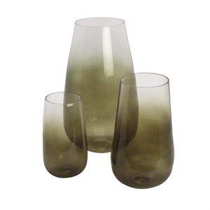 Image of   A.U Maison - Glas Vase, Cocoon - Mos grøn - 12x22 cm.
