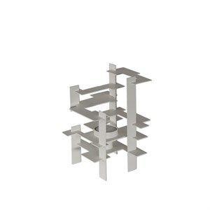 Image of   Gejst lysestage - Construction - hvid