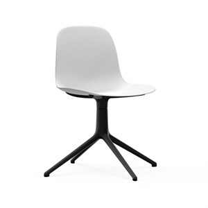 Image of   Normann Copenhagen - Form drejestol - Sort alu - Hvid