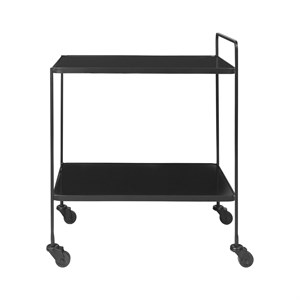 Image of   Cozy Living - Anne Bar Cart - glass BLACK