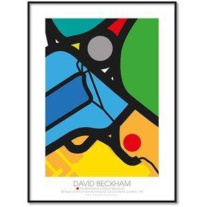 All Wall Art fanplakat - David Beckhams fødested 30x40