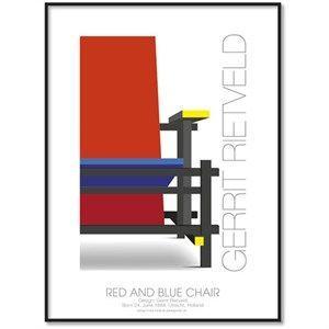 All Wall Art plakat - Designere - Gerrit Tietveld 30x40