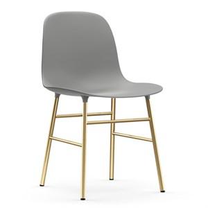 Image of   Normann Copenhagen - Form stol - Grå/messing
