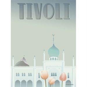Image of   VISSEVASSE - TIVOLI plakat - Nimb 30 x 40