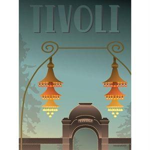 Image of   VISSEVASSE - TIVOLI plakat - Indgangen 30 x 40
