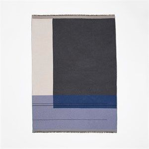 Ferm Living - Tæppe Colour Block Throw - Blå