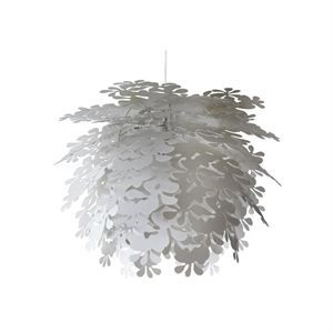 Image of   Dyberg-Larsen Flower Power Illumin pendel hvid Ø 45 cm