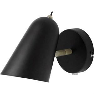 Image of   Dyberg Larsen - Firenze væglampe - Sort m. messing detaljer