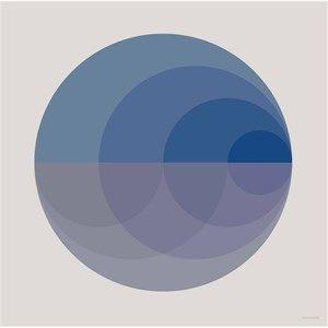 Image of   VISSEVASSE - Gradient blue plakat - 40x40 cm